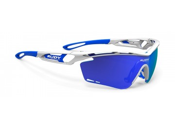 Occhiali da bici Rudy Project Tralyx White Gloss Rp Optics Multilaser Blue