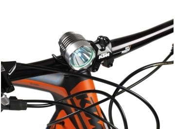White powerfull LED Power 1000 lumen eco Barbieri PNK - Light for bike
