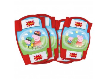 Protection Kit Peppa Pig - Elbow and knee pads for kids for bike