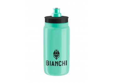 Bianchi Fly 550ml - Water bottle for bike in Polyetilene Squeezable white for food use 100% recycl