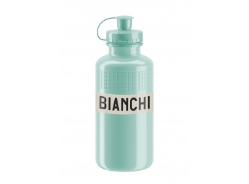 Bianchi Vintage 500ml - Water bottle for bike in Polyetilene Squeezable white for food use 100% recycl