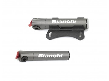 Bianchi Super micro road - Mini-pump for bike in wrought aluminium