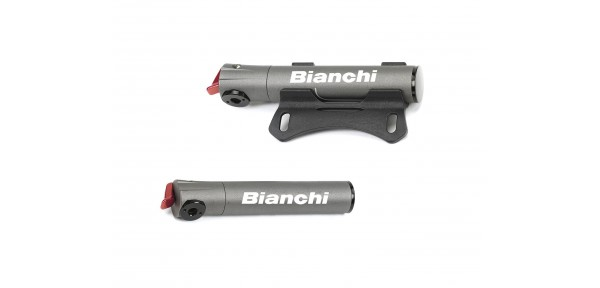 Bianchi Super micro road - Mini-pump for bike in wrought aluminium